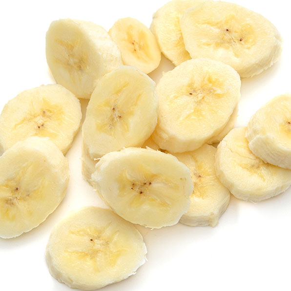Chopped up bananas